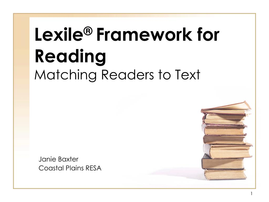 lexile framework for reading matching readers to text l.