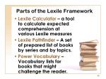 parts of the lexile framework