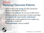 activity 1 studying classroom patterns