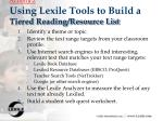 activity 2 using lexile tools to build a tiered reading resource list