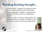 building reading strength
