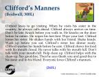 clifford s manners bridwell 300l
