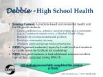 debbie high school health