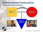 differentiated instruction teacher decision making
