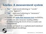 lexiles a measurement system