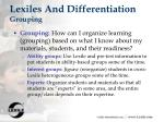 lexiles and differentiation grouping