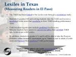lexiles in texas measuring readers in el paso