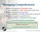 managing comprehension