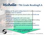 michelle 7th grade reading la
