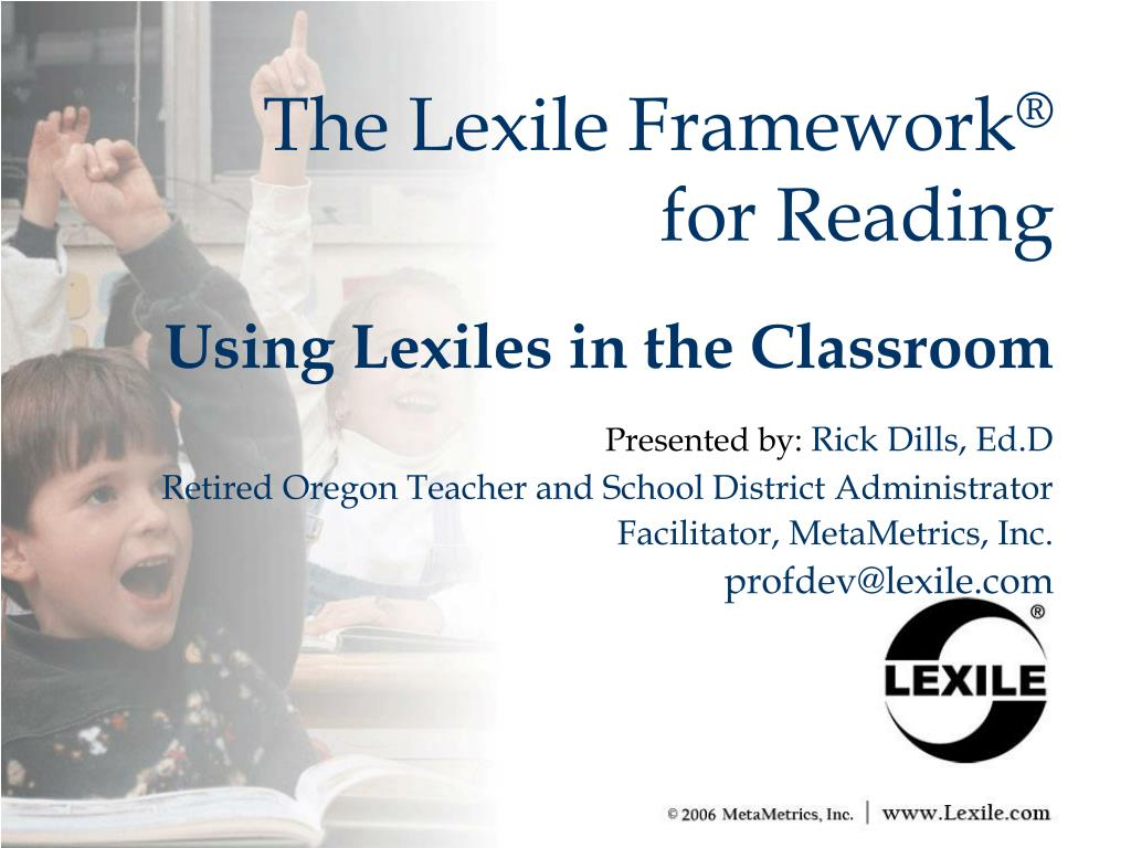 the lexile framework for reading l.