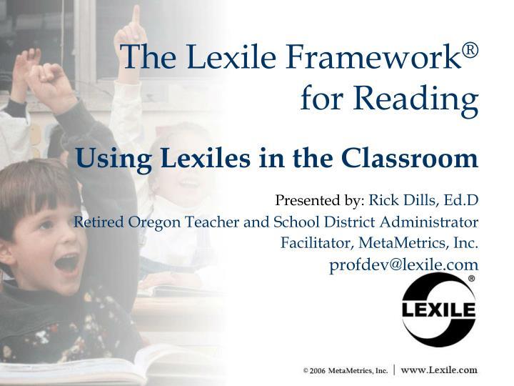 the lexile framework for reading n.