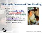 the lexile framework for reading23