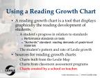 using a reading growth chart