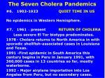 the seven cholera pandemics24