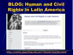 blog human and civil rights in latin america