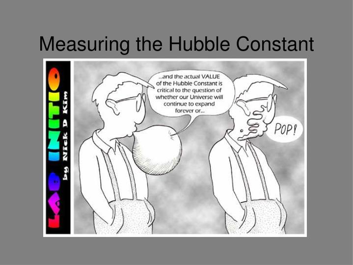 measuring the hubble constant n.