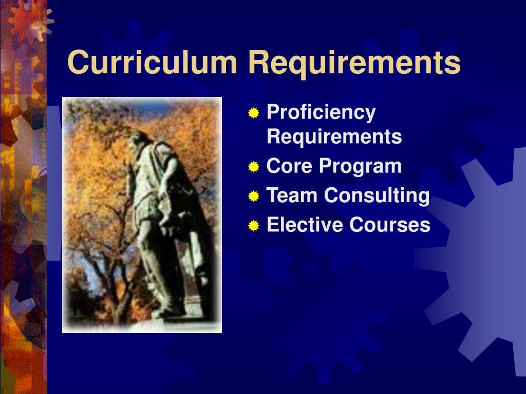 Curriculum Requirements