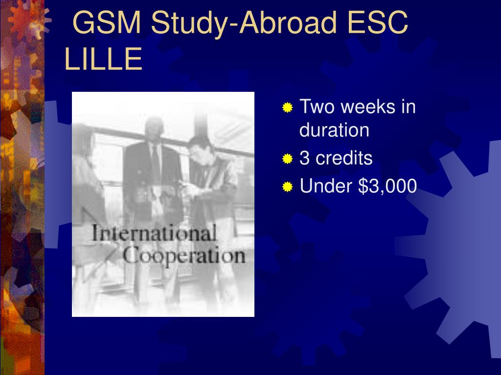 GSM Study-Abroad ESC LILLE