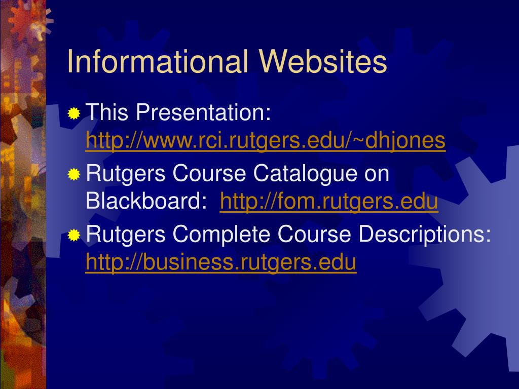 Informational Websites