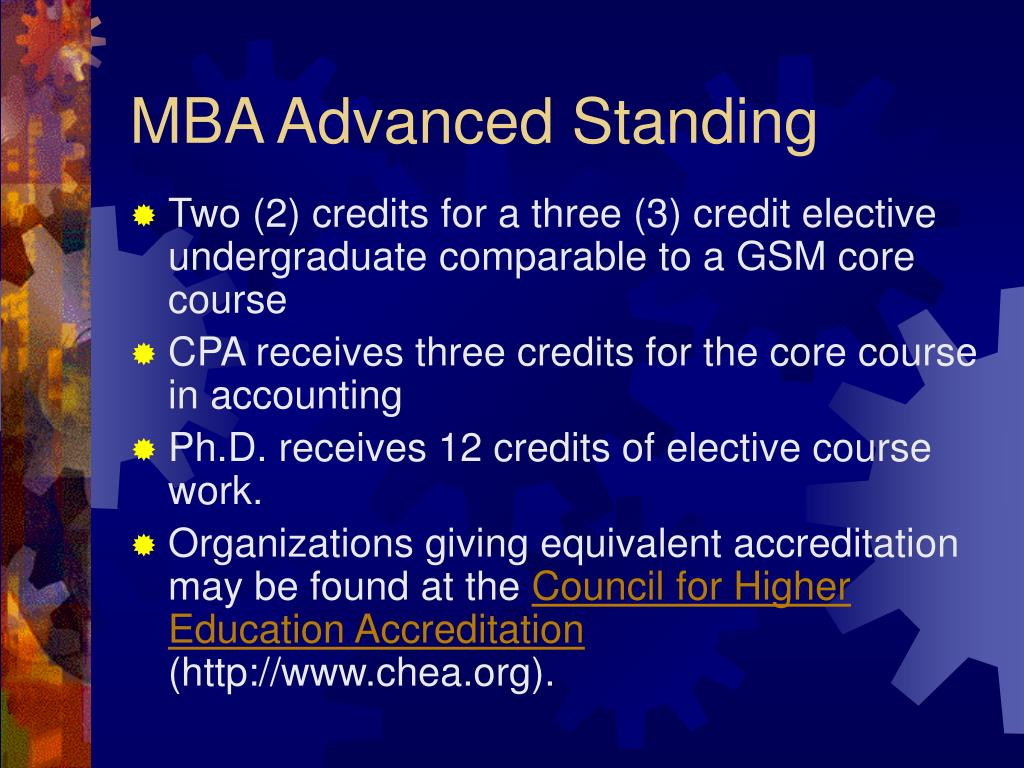 MBA Advanced Standing
