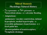 mitral stenosis physiology natural history54
