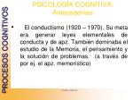 psicolog a cognitiva antecedentes
