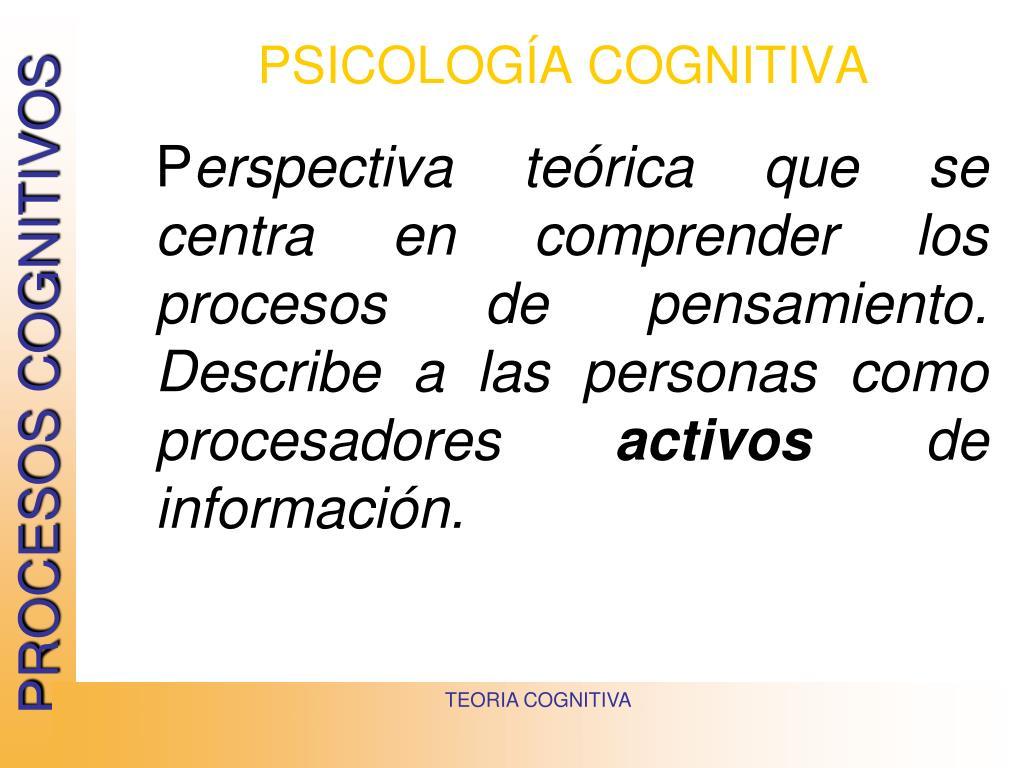 psicolog a cognitiva l.