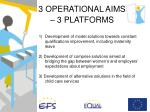 3 operational aims 3 platforms