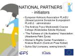 national partners initiators