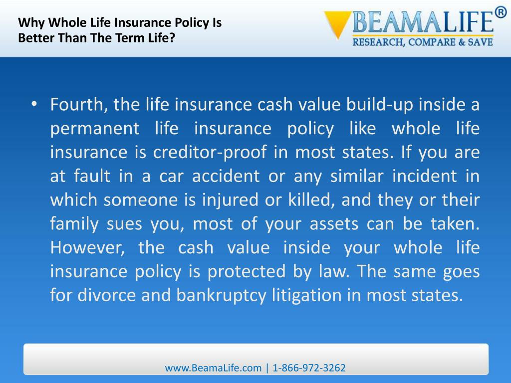 Why Whole Life Insurance Policy Is