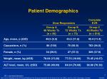 patient demographics