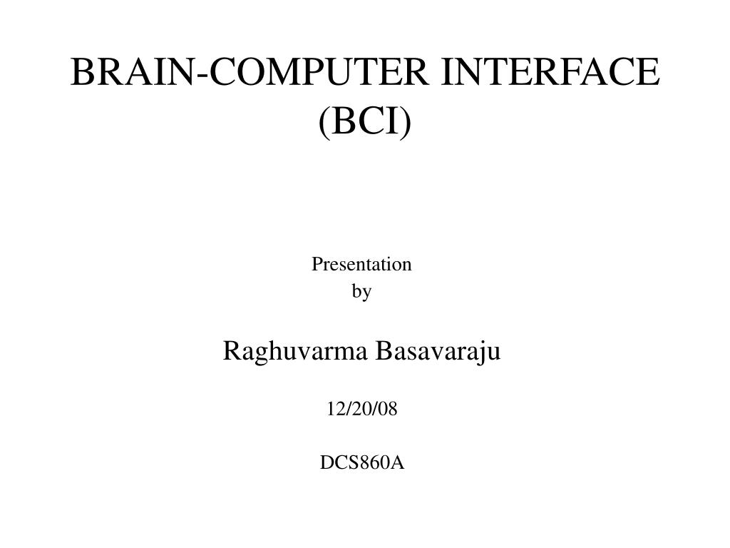 brain computer interface bci l.