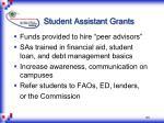 student assistant grants