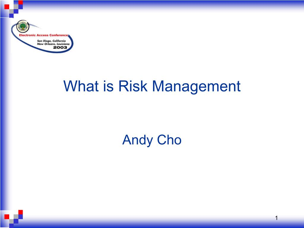 what is risk management andy cho l.