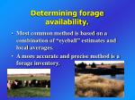 determining forage availability
