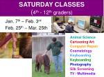 saturday classes 4 th 12 th graders