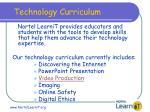 technology curriculum