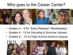 who goes to the career center