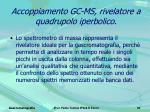 accoppiamento gc ms rivelatore a quadrupolo iperbolico