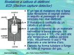 rivelatore a cattura di elettroni ecd electron capture detector