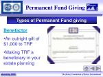 permanent fund giving