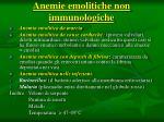 anemie emolitiche non immunologiche