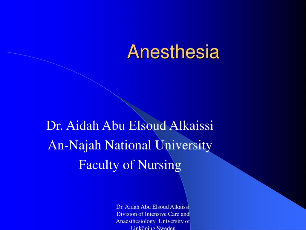 anesthesia l.