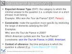 structure of a question i
