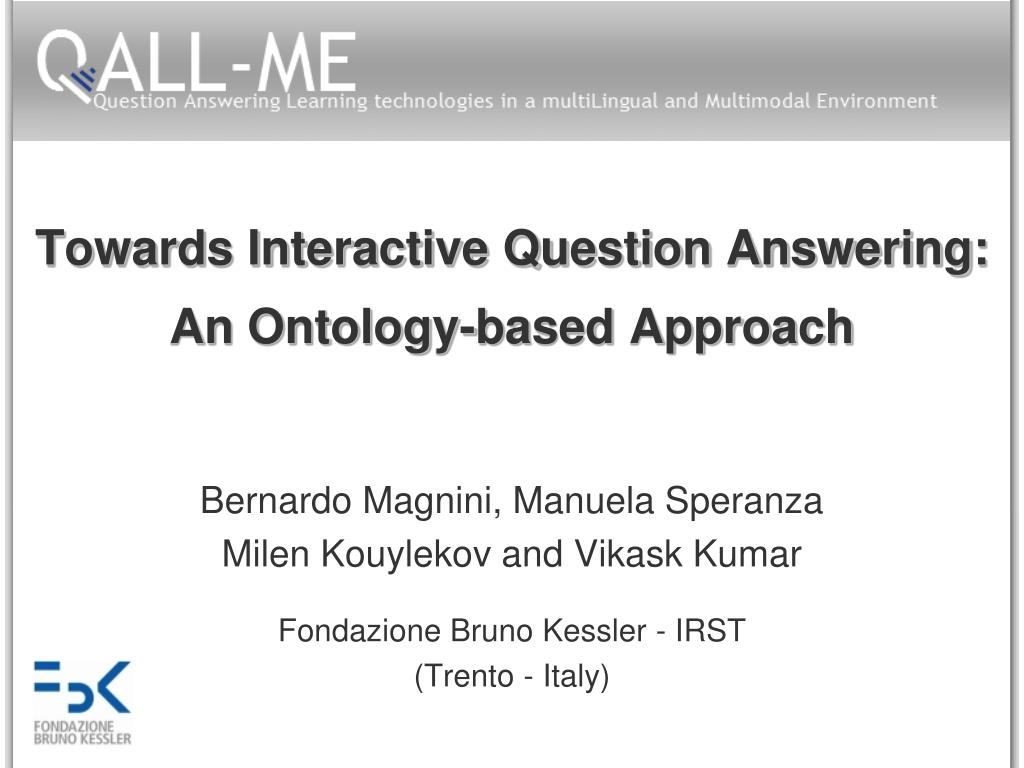 towards interactive question answering an ontology based approach l.