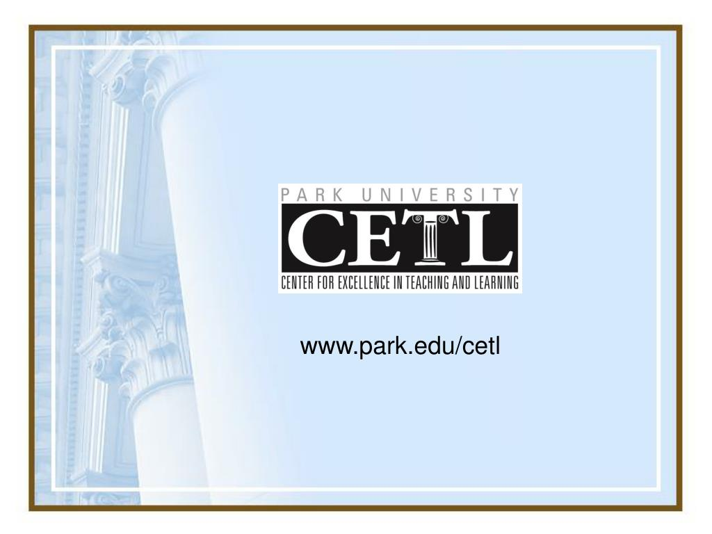 www.park.edu/cetl