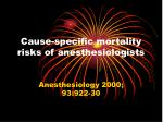 cause specific mortality risks of anesthesiologists