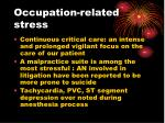 occupation related stress
