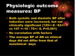 physiologic outcome measures bp