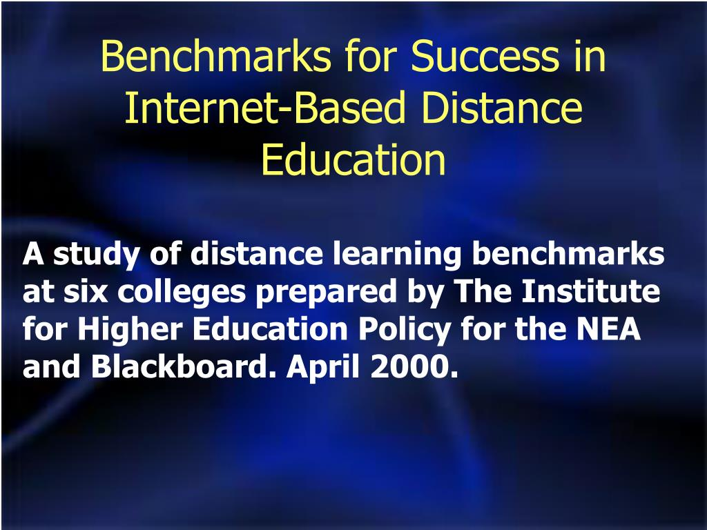 Benchmarks for Success in Internet-Based Distance Education